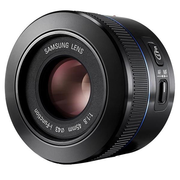 Picture of SAMSUNG 45MM F/1.8 LENS FOR NX SYSTEM CAME.(EX-S45ANB) (Teşhir)