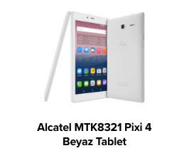 Alcatel MTK8321 Pixi 4 QuadCore Android Beyaz Tablet