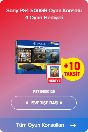 Sony PS4 500GB Oyun Konsolu 3 Oyun Hediye (Days Gone + God Of War + GTA V) Hediye 3 Ay PSN (Sony Eurasia Garantisi Altındadır) + Sony PS4 Borderlands 3 Oyun Hediye