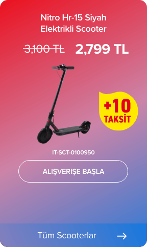 Nitro Hr-15 Siyah Elektrikli Scooter IT-SCT-0100950