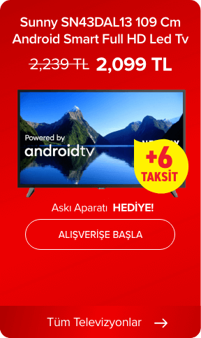 Sunny SN43DAL13-ANDROID 109 Cm Android Smart Dahili Uydu Alıcılı Full HD Led Tv